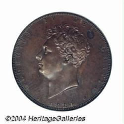 George IV copper Pattern 2 Pounds 1824. As