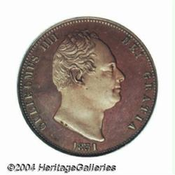 William IV copper Proof Halfpenny 1831,