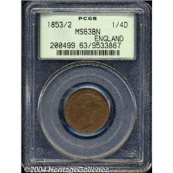 Victorian copper duo: 1843 1/2 Farthing S-3951