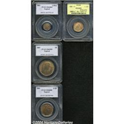 Victoria bronze 1/4 Farthing 1881-H, S-3959.