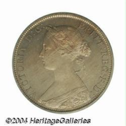 Victoria copper-nickel Proof Halfpenny 1868,