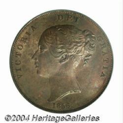 Victoria copper Penny 1856, S-3948, Peck-1510.