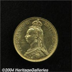 Victoria gold 2 Pounds 1887, S-3865. Jubilee