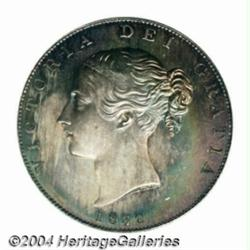 Victoria Young Head Proof Halfcrown 1839,