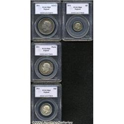 George V silver Proof set 1911, consisting of