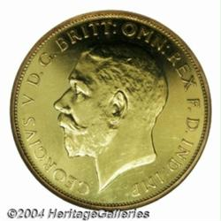 George V Florin struck in gold 1922. S-4022.