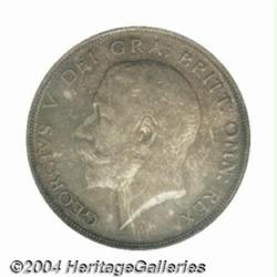 George V silver Halfcrown 1914, S-4011. Scarce