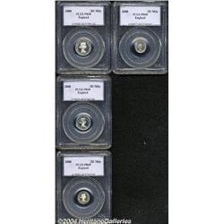 Elizabeth II Maundy Set 2000, 4d PR68, 3d