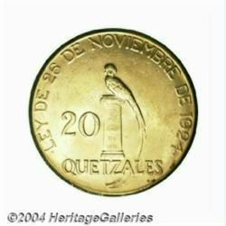 Republic. Gold 20 Pesos 1926, KM246, BU, a