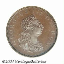 George III Copper Bronzed Penny 1805, Bust