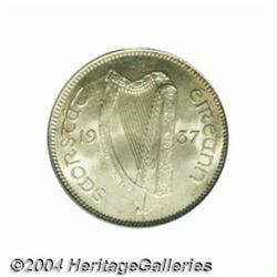 Republic shilling 1937, Harp/Bull, S-6635,