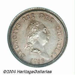 George III Halfpenny 1786, Engrailed Edge,