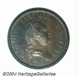 George III Penny 1786, Plain Edge Bust