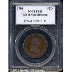 George III Bronzed Proof Halfpenny 1798, Bust