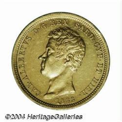 Sardinia. Carlo Alberto Gold 50 lire 1833P,