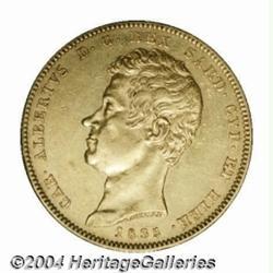 Sardinia. Carlo Alberto Gold 100 lire 1833P,