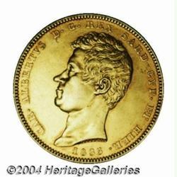 Sardinia. Carlo Alberto Gold 100 lire 1835P,