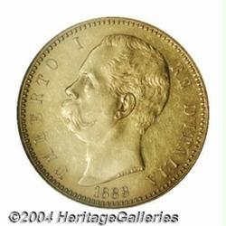Kingdom. Umberto I gold 100 Lire 1883R, Bust