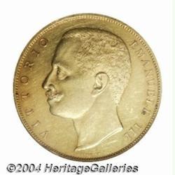 Kingdom. Vittorio Emanuele III gold 100 lire