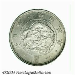 Meiji 1 Yen dated Meiji 3 (1870),