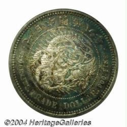 Meiji Trade Dollar dated Meiji 8 (1875),