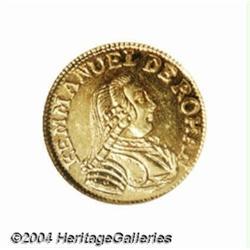 Emmanuel de Rohan gold 5 Scudi 1779, Bust
