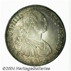 Carlos IV 8 Reales 1794-FM, KM109, Choice UNC,
