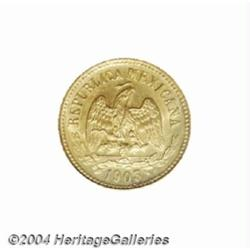 Republic. Gold 5 Pesos 1903-Cn-Q, KM412.7,