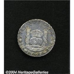 Carlos III Pillar 8 Reales 1767-JM, KM55.1,