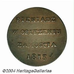 Zamosc. Saxon-Polish garrison 6 Groszy 1813,
