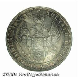 Nicholas I Rouble 1848-HI, KM-C168.1, MS65