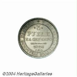 Nicholas I platinum 3 Roubles 1828, C-177,