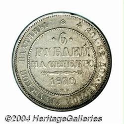 Nicholas I platinum 6 Roubles 1830, C-178,