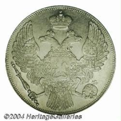 Nicholas I platinum 12 Roubles 1831, C-179,