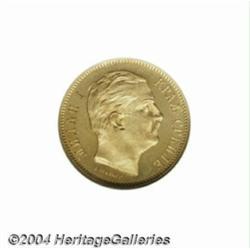 Milan, Obrenovich IV gold 10 Dinara 1882V,