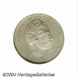 Oscar I 1 Riksdaler riksmynt 1857ST, Bust