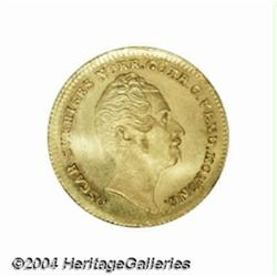 Oscar I gold ducat 1855AG, Bust right/Crowned