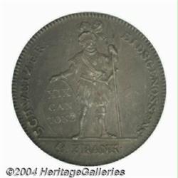 Aargau. 4 Frank 1812, KM-20, Cantonal