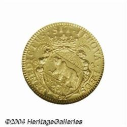 Bern. Gold ducat 1697, Arms/Male and female
