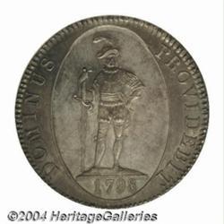 Bern. Taler 1798, Large Date, Warrior