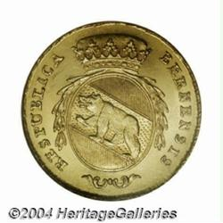 Bern. Gold 2 Duplone 1793, Crowned arms/Legend