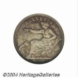 Confederation 1 franc 1851A, Helvetia seated