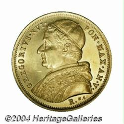 Gregory XVI gold 10 Scudi 1835R, Bust