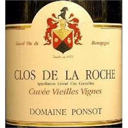 6xClos de la Roche Vieilles Vignes Domaine Ponsot 2000  (750ml)