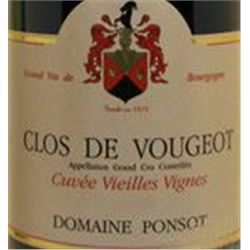 6xClos Vougeot Vieilles Vignes Domaine Ponsot 2011  (750ml)