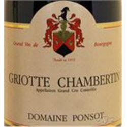 6xGriotte Chambertin Domaine Ponsot 2012  (750ml)