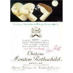 5xChateau Mouton Rothschild 1986  (750ml)