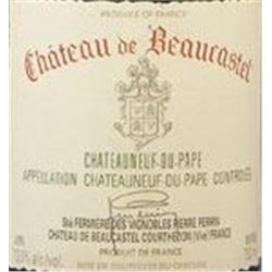 7xChateauneuf du Pape Hommage a Jacques Perrin Chateau Beaucastel 1999  (750ml)