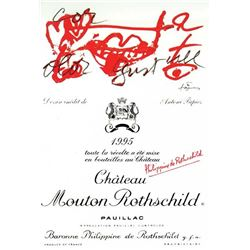 4xChateau Mouton Rothschild 1995  (750ml)