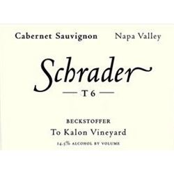 6xSchrader T6 Beckstoffer To Kalon Vineyard Cabernet Sauvignon 2012  (750ml)